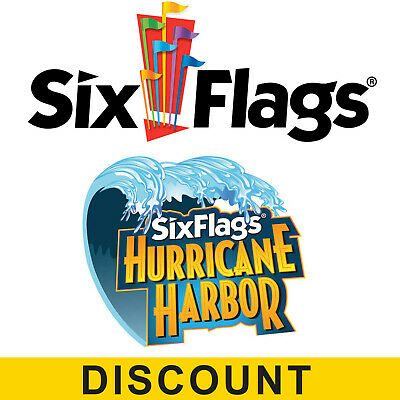Six Flags Magic Mountain and Hurricane Harbor Tickets - $60.00 Off Discount