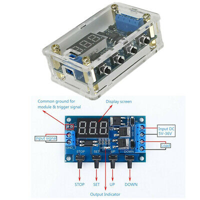 Trigger Cycle Timer Delay Relay Switch Circuit Module MOS Tube Pulse Generator