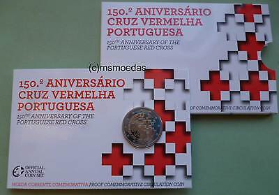 Portugal 2 Euro CoinCard Blister 2015 Rotes Kreuz Red Cross Gedenkmünze Proof PP