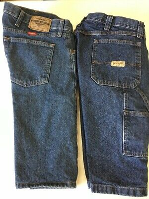 58852fcb Lot 2 Mens Wrangler Carpenter , Relaxed Fit Jean Shorts. Size 40 Blue 10""