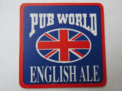 BEER COASTER ~*~ PUB WORLD English Ale ~ Add'l Coasters Only $0.25 S&H Worldwide