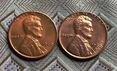 1960-P/D Small Date Lincoln Memorial Cent's ( 2 Coin's ) ( Itm#8573  )