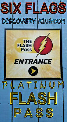 SIX FLAGS DISCOVERY Kingdom Platinum Flash Pass Package    Any Date/Any  Tickets*