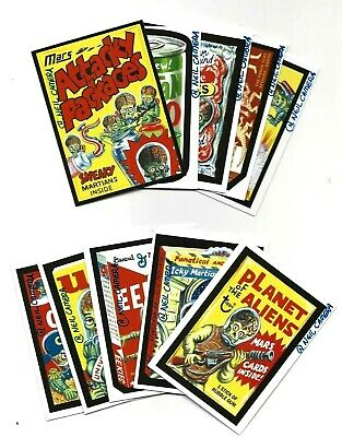 Mars Attacks Occupation Complete Attacky Packs Signed Set All 10  Neil Camera
