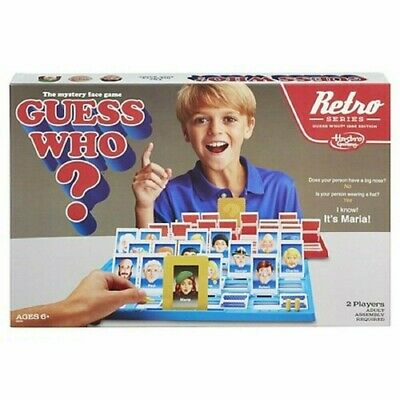 "THE MYSTERY FACE GAME "" GUESS WHO "" 2 PLAYERS / Retro Series 1988 Edition"