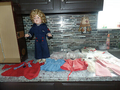 "18"" vintage 1930's  Shirley Temple Doll with hard to find 20""  Trunk and outfits"