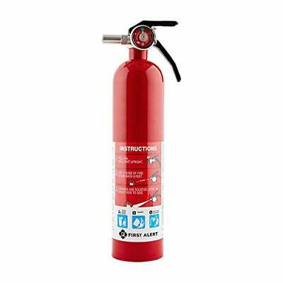 First Alert HOME 1-A:10-B:C 2.5 Pound Rechargeable Fire Extinguisher DOT Marine