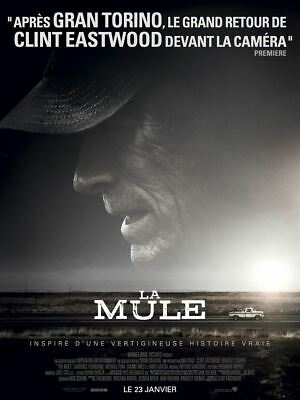 Affiche officiel cinema LA MULE CLINT EASTWOOD