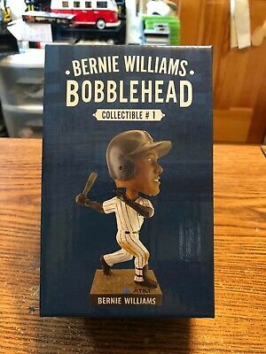 Bernie Williams New York Yankee SGA BobbleHead 4/12/19 New in Box
