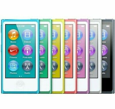 Apple iPod Nano 7th 8th Generation 16GB Gold Blue Silver Gray Black Purple Pink