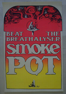 Plakat Poster - smoke pot - family dog  productions - Hippie Psychedelic