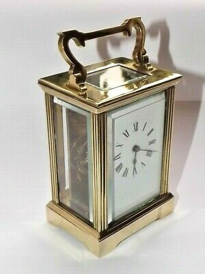 Fine Quality Vintage French Brass Carriage Clock Eight Day  Movement Working