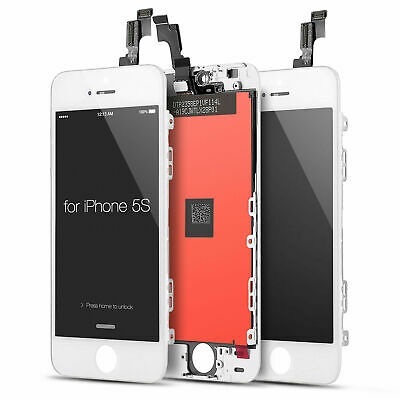 LCD Display Screen Touch Digitizer Replacement Assembly for iPhone 5S SE White