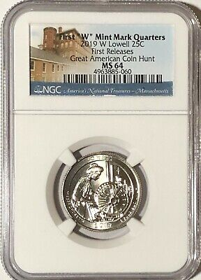 2019 W Ngc Ms64 First Releases First W  Lowell Quarter Great American Coin Hunt