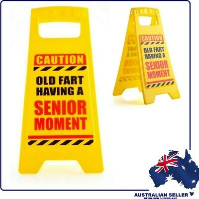 Mini Novelty - DESKTOP WARNING SIGN - SENIOR MOMENT IN PROGRESS - Brand New