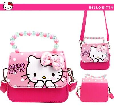 Brand New Girls Lovely Pink Colour Hello Kitty Bag Cute Adjustable Shoulder Bag