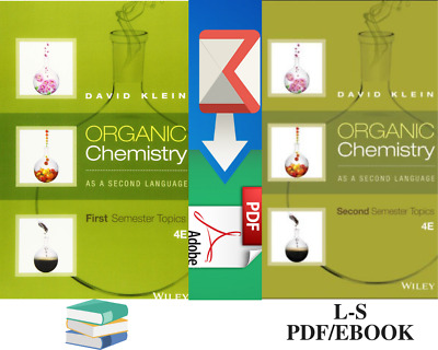 Organic Chemistry as a Second Language:First Semester and Second Semester PDF
