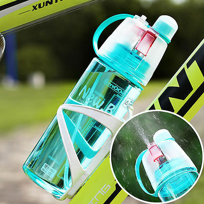 600ml Outdoor Sport Bottle Portable Travel Water Drinking Cup Leak Proof Spray