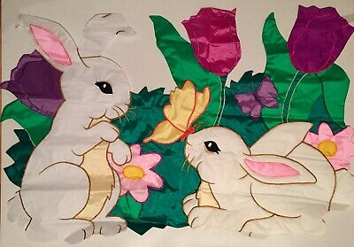 Easter Bunny STOP Here 3D Windsculpt Large House Flag by NCE #60967 Sale!!