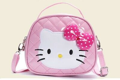 New Girls Pink Hello Kitty Adjustable High Quality Leather Shoulder Bag Hand Bag