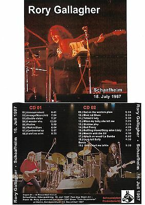 RORY GALLAGHER Schaafheim 2CD Recorded Live 18-07-87 LIKE NEW