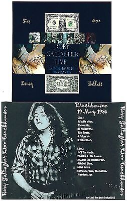 RORY GALLAGHER Live Bruckhausen 2CD Recorded Live 19-05-86 LIKE NEW