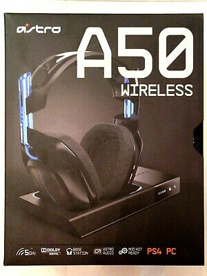 46ad06a9dd7 ASTRO A50 Wireless Dolby 7.1 Gaming Headset Black Blue PS4 & PC A50G03 Gen 3