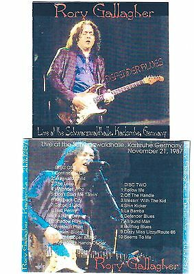 RORY GALLAGHER Defender Blues 2CD Recorded Live in Karlsruhe 21-11-87 LIKE NEW