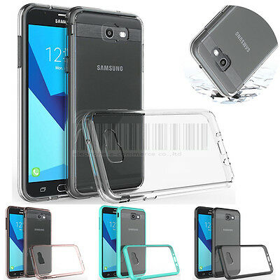 Hybrid Clear TPU Case Shockproof Bumper Cover For Galaxy J7 V 2017 /Perx/Sky Pro
