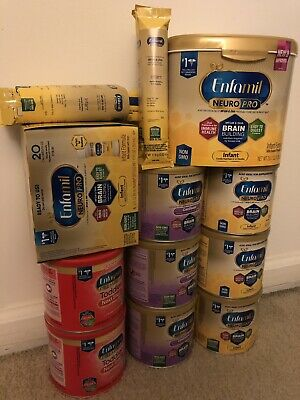Large Lot of New Enfamil NeuroPro infant formula with nipples. See Description.