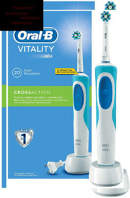 Oral-B vitality cross action rechargeable electric toothbrush with 2 pin...