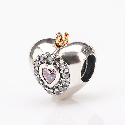 00b27347b SET 5 PANDORA Princess Heart Pink Charm 791375PCZ disney hot ...