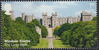 Windsor Castle - The Long Walk Illustrated On  2017 Gb Unmounted Mint Stamp