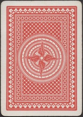 Playing Cards 1 Single Swap Card Antique Wide USPC BICYCLE No. 77  TRI-TIRE No.2