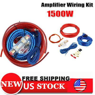All In 1 8GA Car Audio Cable Kit Amp Amplifier Install Wire MAX 1500W
