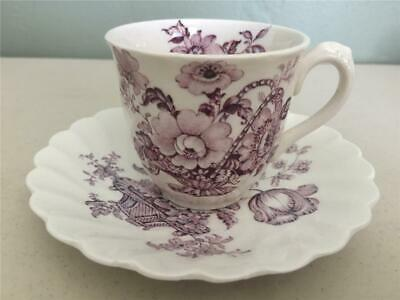 Vintage Staffordshire Pottery Clarice Cliff Charlotte Demitasse Cup & Saucer