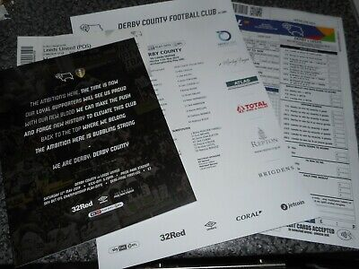 DERBY COUNTY  v  LEEDS UNITED   2018/19  MAY 11  PLAY-OFF S/F 1st + T/S + TICKET