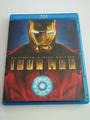 Iron Man (Two-Disc Ultimate Edition + BD Live) [Blu-ray] No Slipcover