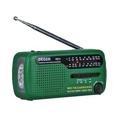 UN3F DE13 FM Radio FM MW SW Crank Dynamo Solar Emergency Radio World Receiver