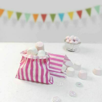 100 X Candy Stripe Paper Bags Sweet Favour Buffet Gift Shop Party 5x7 inches