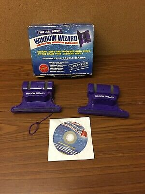 Window Wizard Double Glazing Purple Magnetic Glass Cleaning Kit with DVD - Boxed