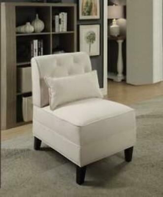 Enjoyable Rialto Bonded Leather White Chair Seat Living Room Accent Alphanode Cool Chair Designs And Ideas Alphanodeonline