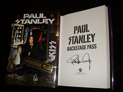 KISS Paul Stanley signed Backstage Pass 1/1 HC book NOT TIPPED signed in person