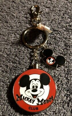 Disney Parks Mickey Mouse Club With Mose Ears Charm Metal Keychain