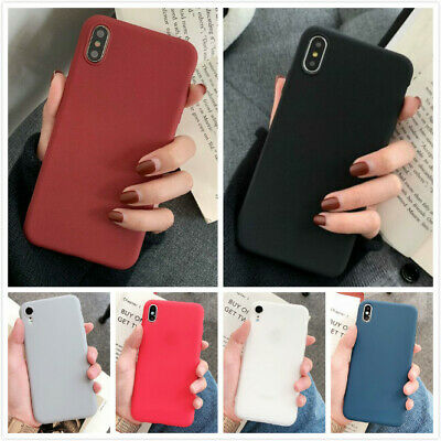 Ultra Slim Matte Back Phone Cover Protective Case For iPhone Xs Max XR 7 8 Plus