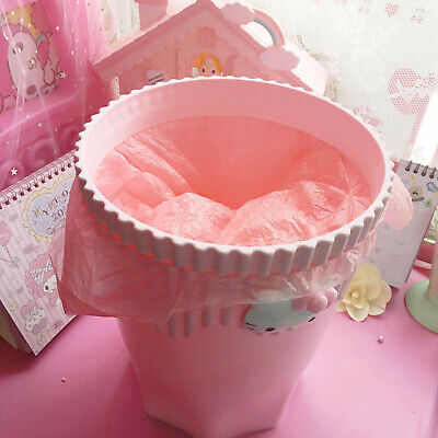 Sale New Girls Pink Color Hello Kitty Trash Can Garbage Can Household Trash Can