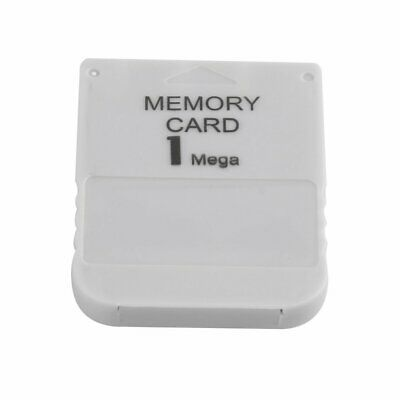 1MB Memory Card For Sony Playstation One 1 PS1 PS2 PSX White NEW UX
