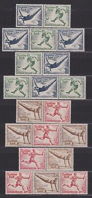 Germany Third Reich 1936 Olympics MNH** Zusammendrucke selection - attractive