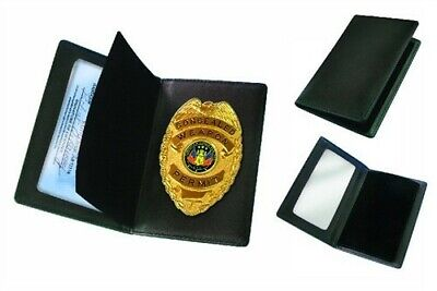 NEW IN BOX  CONCEALED WEAPON PERMIT GOLD BADGE AND with ID WALLET