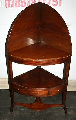 Quality Georgian mahogany corner washstand bedside cabinet table 1800